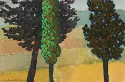 Cypress Hills, 2010, watercolour on paper, 35 x 53 cm