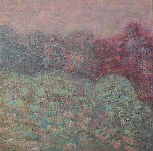 WATERMARK, acrylic and oil on canvas, 63 x 63 cm, 2012